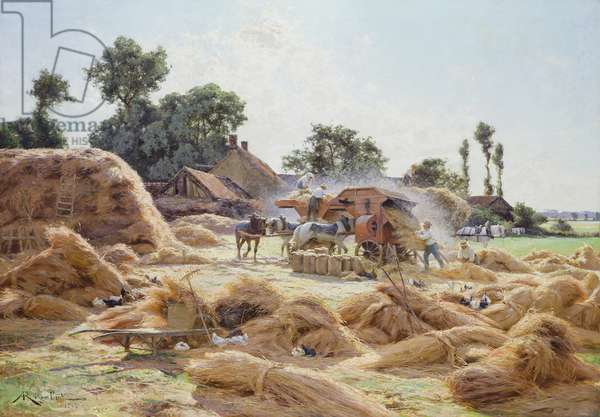 The Threshing Machine (Loiret) 1896 (oil on canvas)