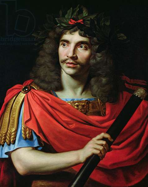 Moliere in the Role of Caesar in 'The Death of Pompey' (oil on canvas)