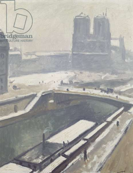 Notre Dame in the Snow, after 1912 (oil on canvas)