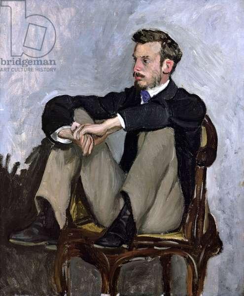 Portrait of Auguste Renoir (1841-1919), 1867 (oil on canvas)