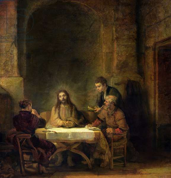 The Supper at Emmaus, 1648 (oil on panel)