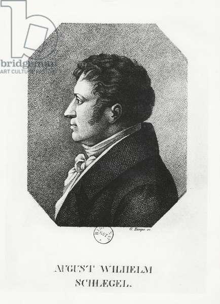 August Wilhelm Schlegel (engraving)