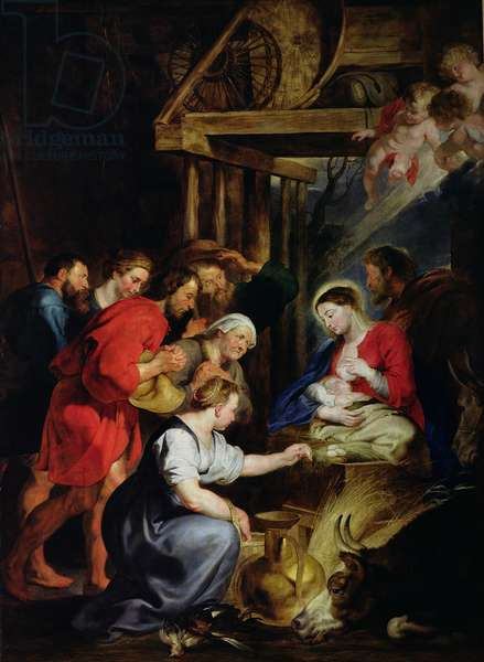 Adoration of the Shepherds (oil on canvas)
