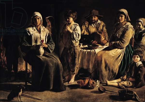 Peasant Family in an Interior, c.1643 (oil on canvas)