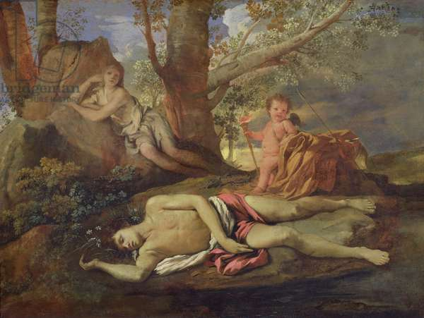 Echo and Narcissus (oil on canvas)