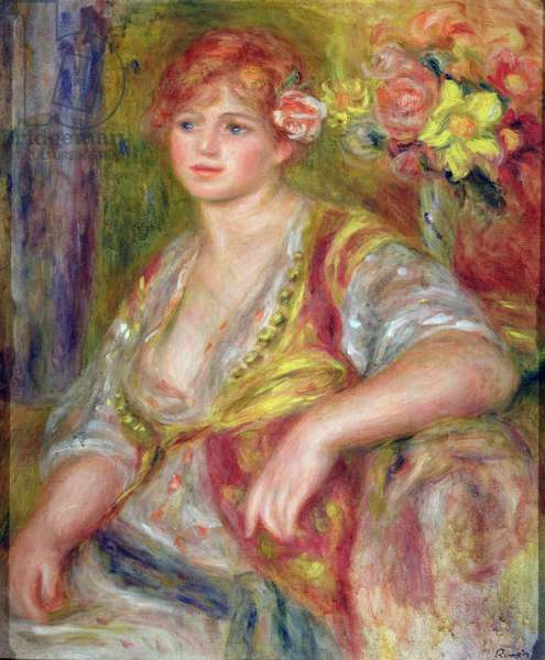 Blonde woman with a rose, c.1915-17 (oil on canvas)