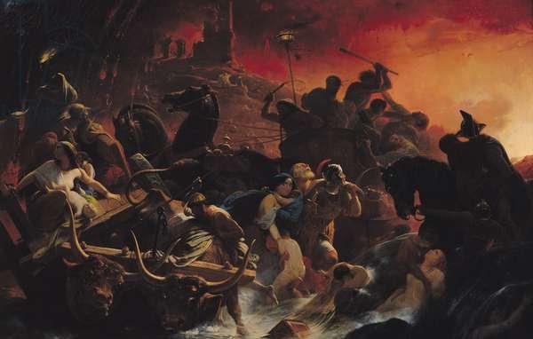 The Last Days of Pompeii (oil on canvas)
