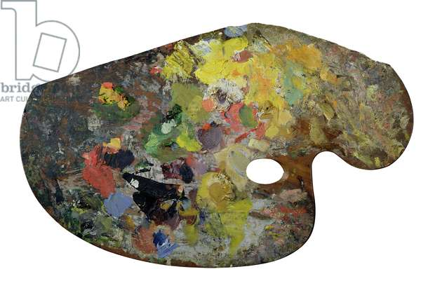 Monet's palette (wood) (also see 182029)