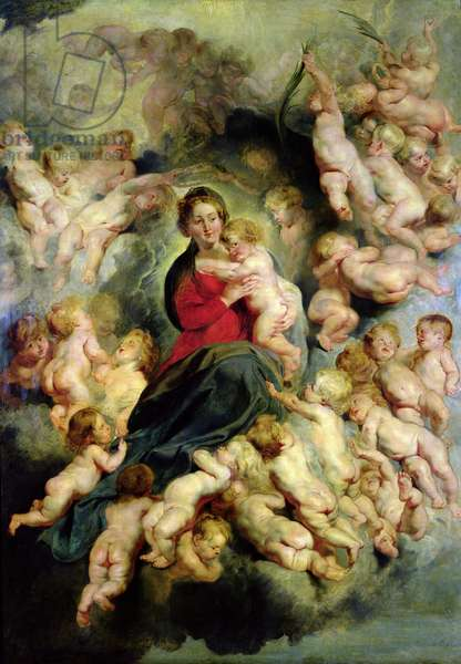 The Virgin and Child surrounded by the Holy Innocents or, The Virgin with Angels, 1618 (oil on canvas)