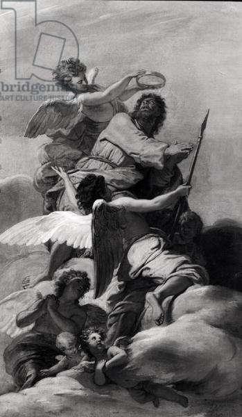 St. Thomas (oil on canvas) (b/w photo)