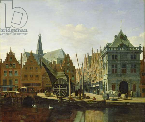 View of the Spaarne at Haarlem, 1667 (oil on canvas)