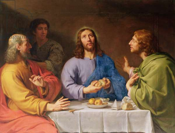 The Supper at Emmaus (oil on canvas)