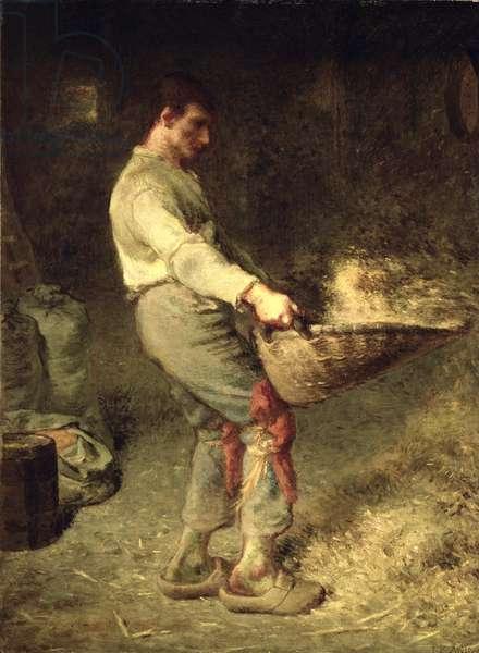 A Winnower, 1866-68 (oil on canvas)