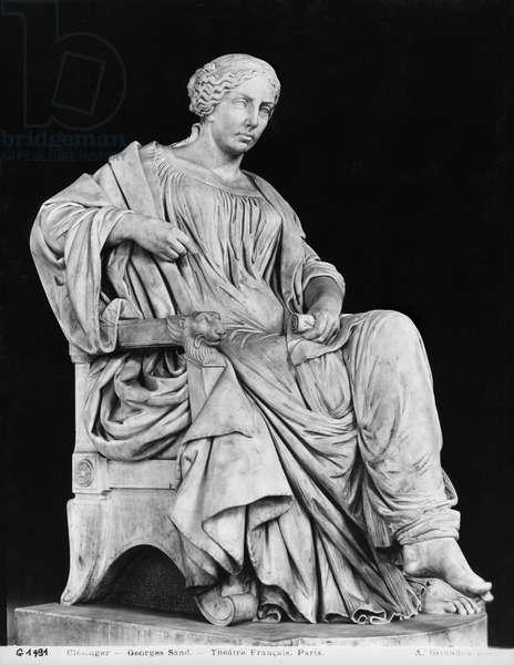 George Sand, 1877 (marble)