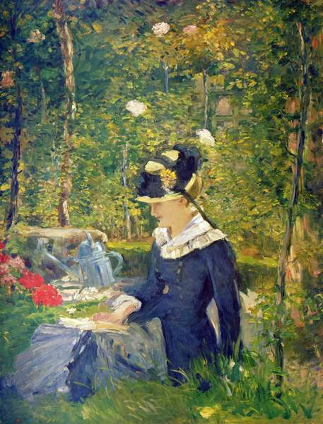 Young Woman at the Entrance of the Bellevue Garden (Marguerite), 1880 (oil on canvas)