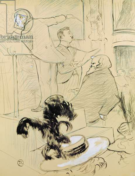 Ambroise Thomas (1811-96) at a rehearsal of his opera 'Francesca da Rimini', 1896 (pen & ink and pencil on paper)