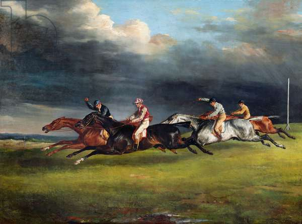 The Epsom Derby, 1821 (oil on canvas)