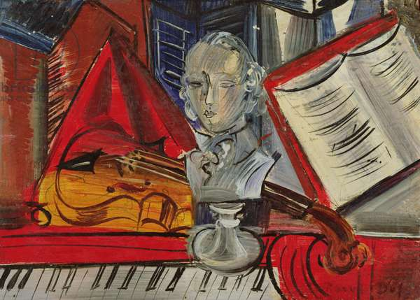 Homage to Mozart, c.1945 (oil on canvas)