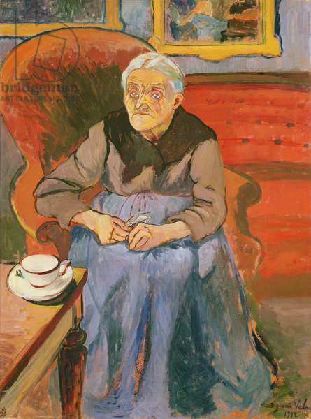 Portrait of the artist's Mother, 1912 (oil on canvas)