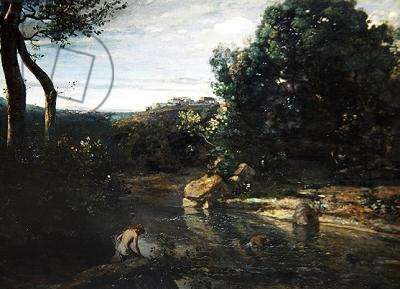 Impression of Italy, or Italian Landscape (oil on canvas)