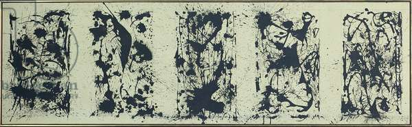 Black and White Polyptych, 1950 (oil on canvas)