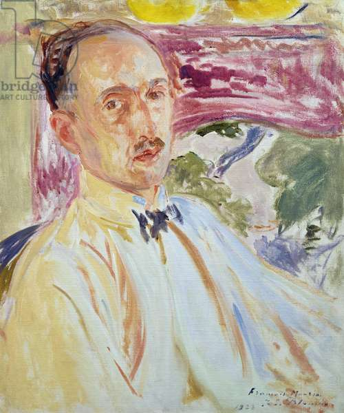 Study for a Portrait of Francois Mauriac, 1923 (oil on card)