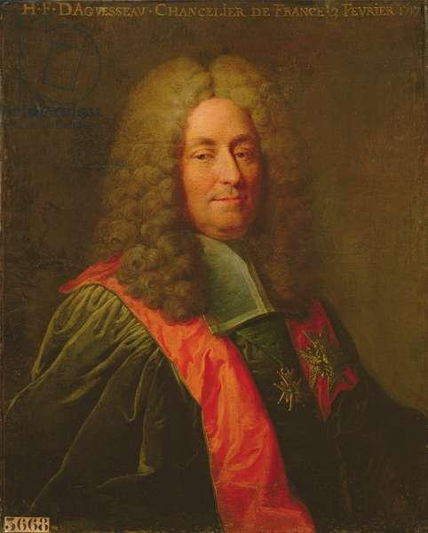 Henri-Francois d'Aguesseau (1668-1751) after 1720 (oil on canvas)
