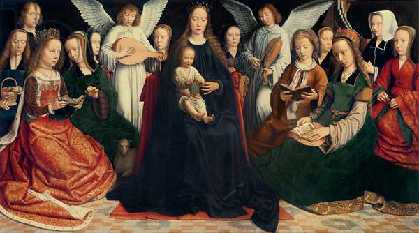 Virgin and Child with Saints, c.1509 (oil on panel) (for detail see 281594)