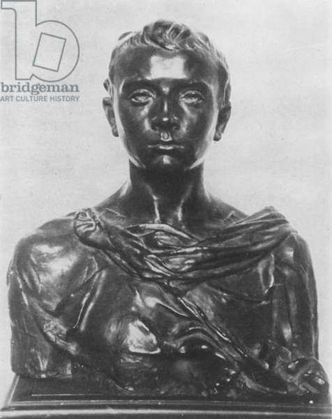 Bust of Paul Claudel as an adolescent (bronze)