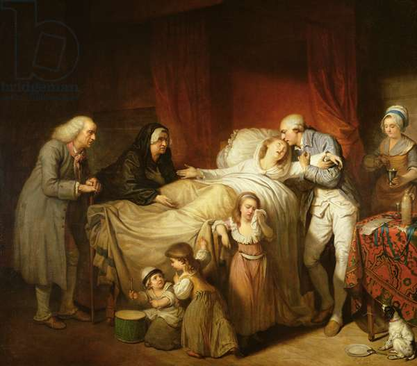 The Last Moments of the Beloved Wife, 1784 (oil on canvas)
