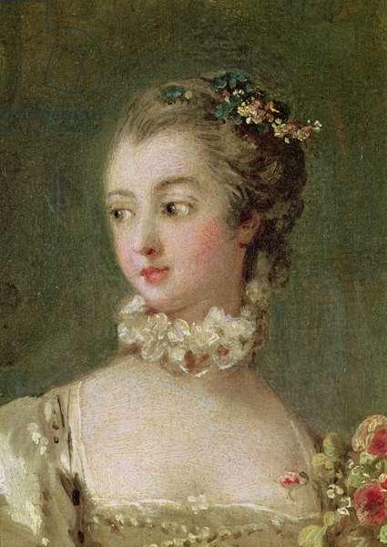 Madame de Pompadour (1721-64) (oil on canvas) (detail of 26230)