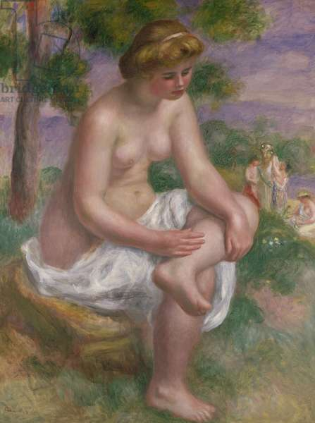 Seated Bather in a Landscape or, Eurydice, 1895-1900 (oil on canvas)