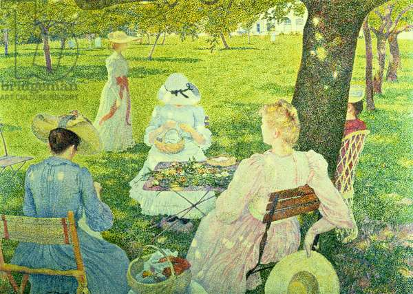 Family in the Orchard, 1890 (oil on canvas)
