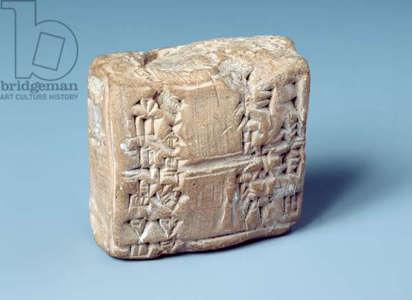 Tablet with cuneiform script, c.2000 BC (baked clay)