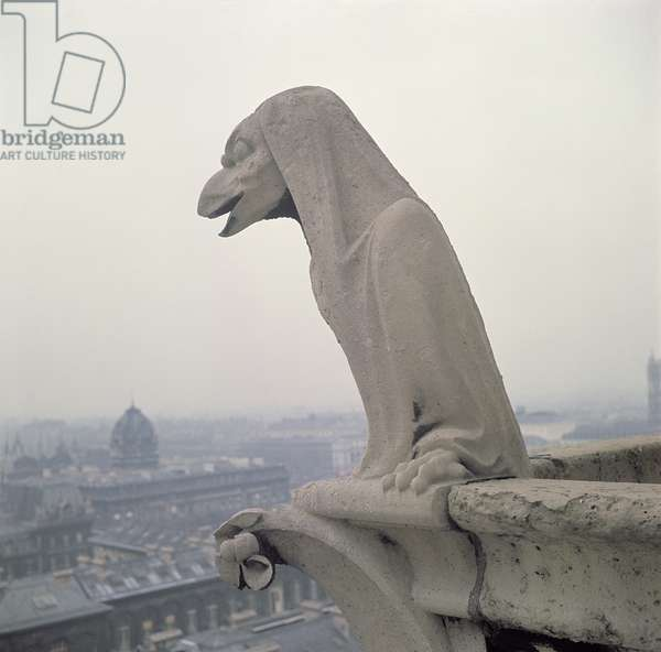 Gargoyle on the balustrade of the Grande Galerie, replica of a 12th century original (stone)
