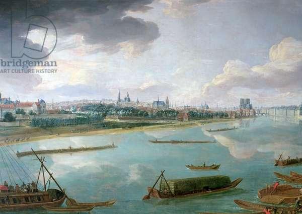 View of Paris from the Quai de la Rapee (oil on canvas) (detail of 168381)