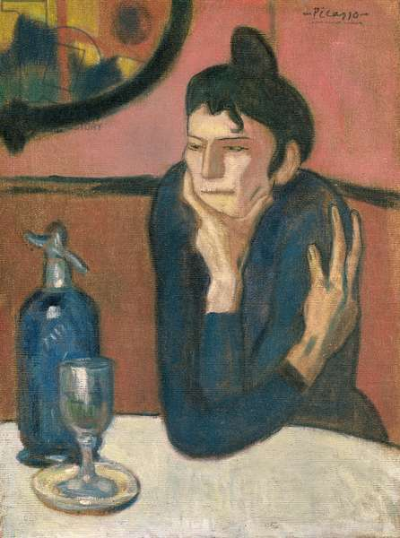 The Absinthe Drinker, 1901 (oil on canvas)