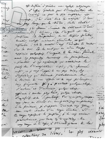 Letter to Richard Wagner (1813-83) 17th February 1860 (pen & ink on paper) (b/w photo)