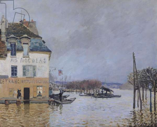 The Flood at Port-Marly, 1876 (oil on canvas)