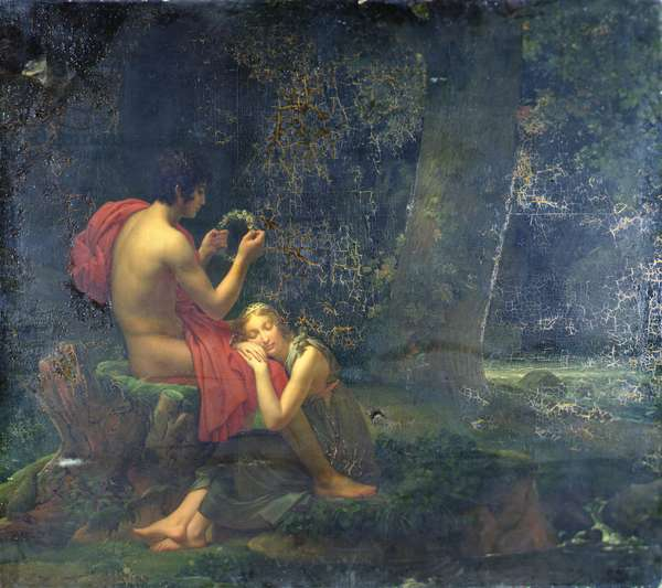 Daphnis and Chloe, 1824-25 (oil on canvas)