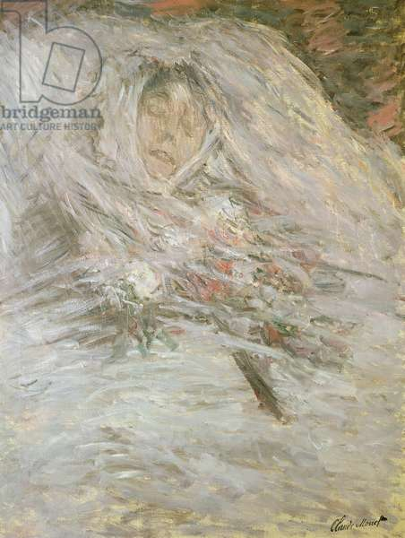 Camille Monet (1847-79) on her Deathbed, 1879 (oil on canvas)