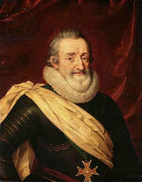 Portrait of Henri IV (1553-1610) King of France (oil on panel)