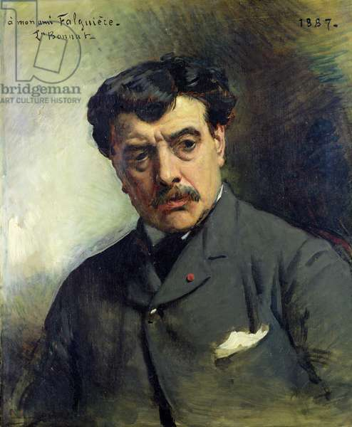 Portrait of Alexander Falguiere (1831-1900) 1887 (oil on canvas)