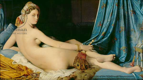 The Grande Odalisque, 1814 (oil on canvas)
