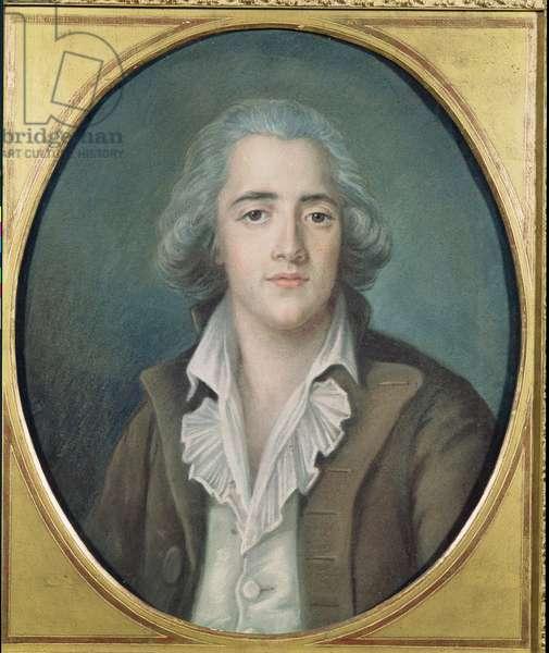 Portrait of Francois Rene (1768-1848) Vicomte de Chateaubriand, c.1786 (pastel on paper)