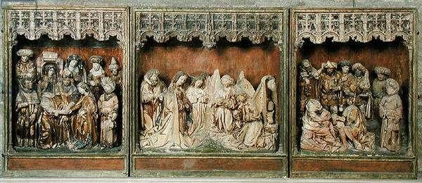 Altarpiece, from Kalkar, Lower Rhine, c.1483 (polychrome wood)