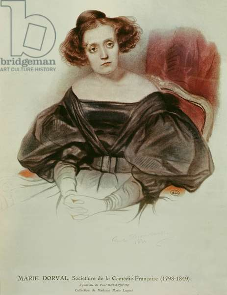 Marie Dorval (1798-1849) in Costume, 1831 (w/c on paper)