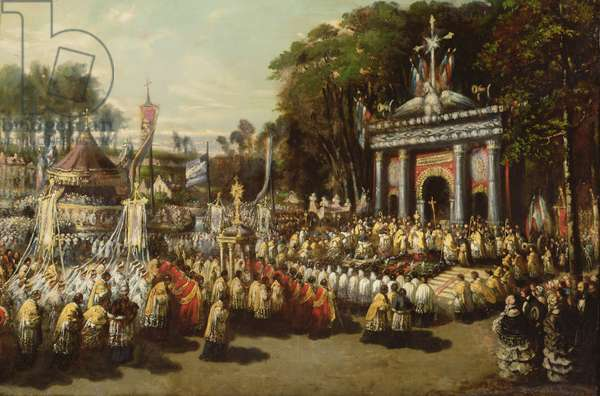 Procession of the Holy Sacrament, 1855 (oil on canvas)
