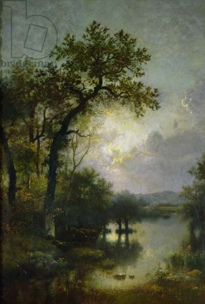 Morning, c.1865 (oil on canvas)