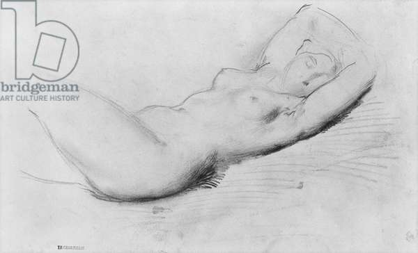 Study of a nude (pencil on paper)